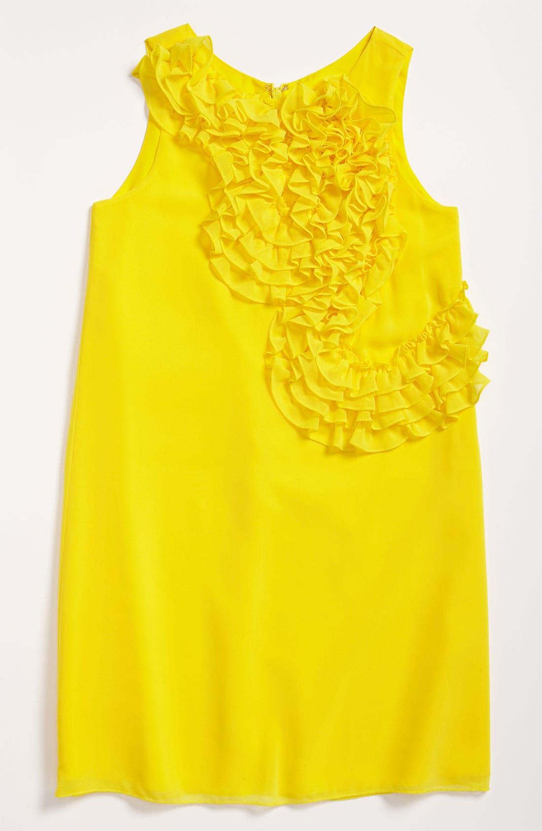 Alternate Image 2  - BLUSH by Us Angels Ruffle Front Dress (Big Girls)