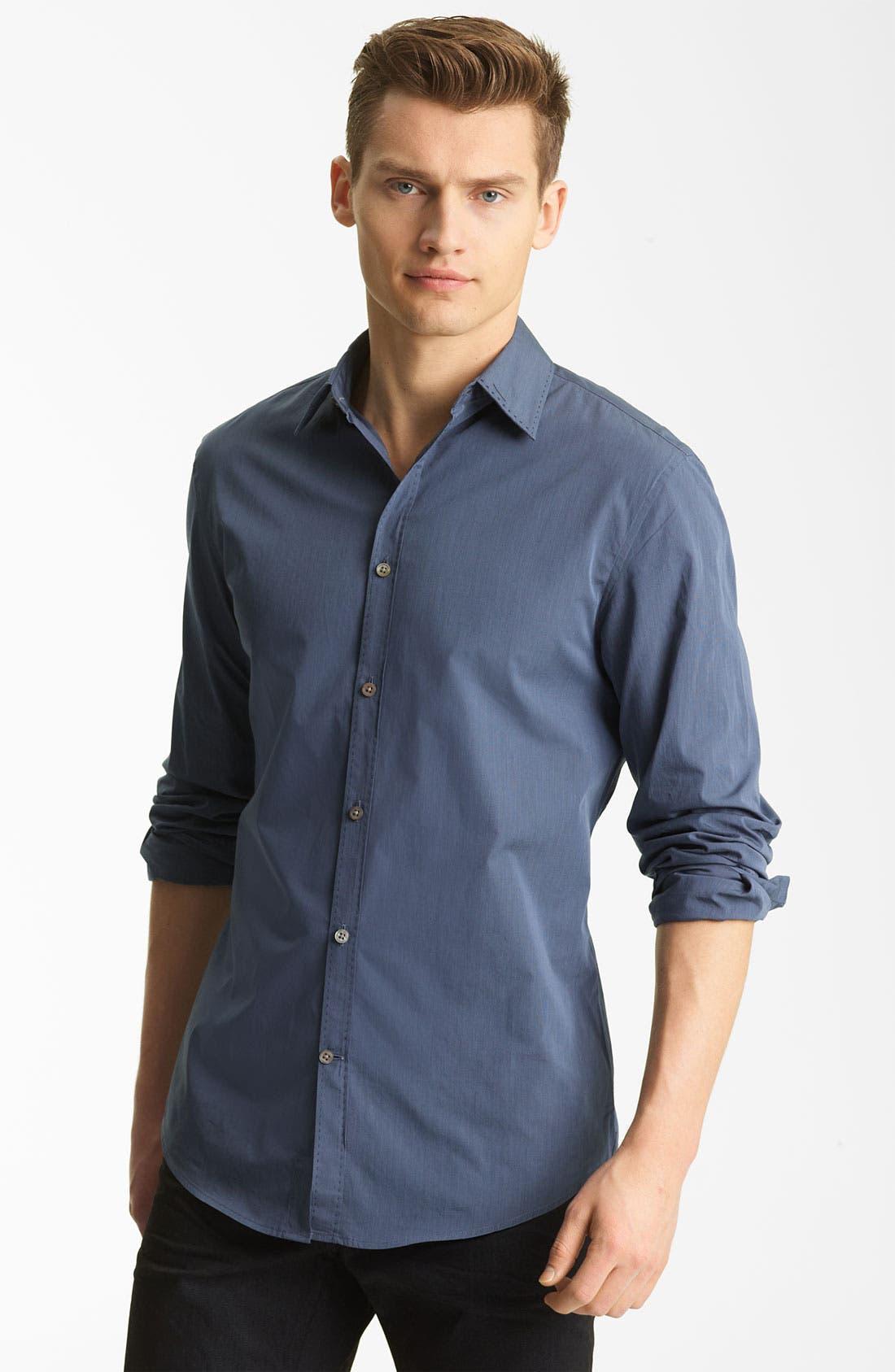 Main Image - John Varvatos Collection Pickstitch Woven Shirt