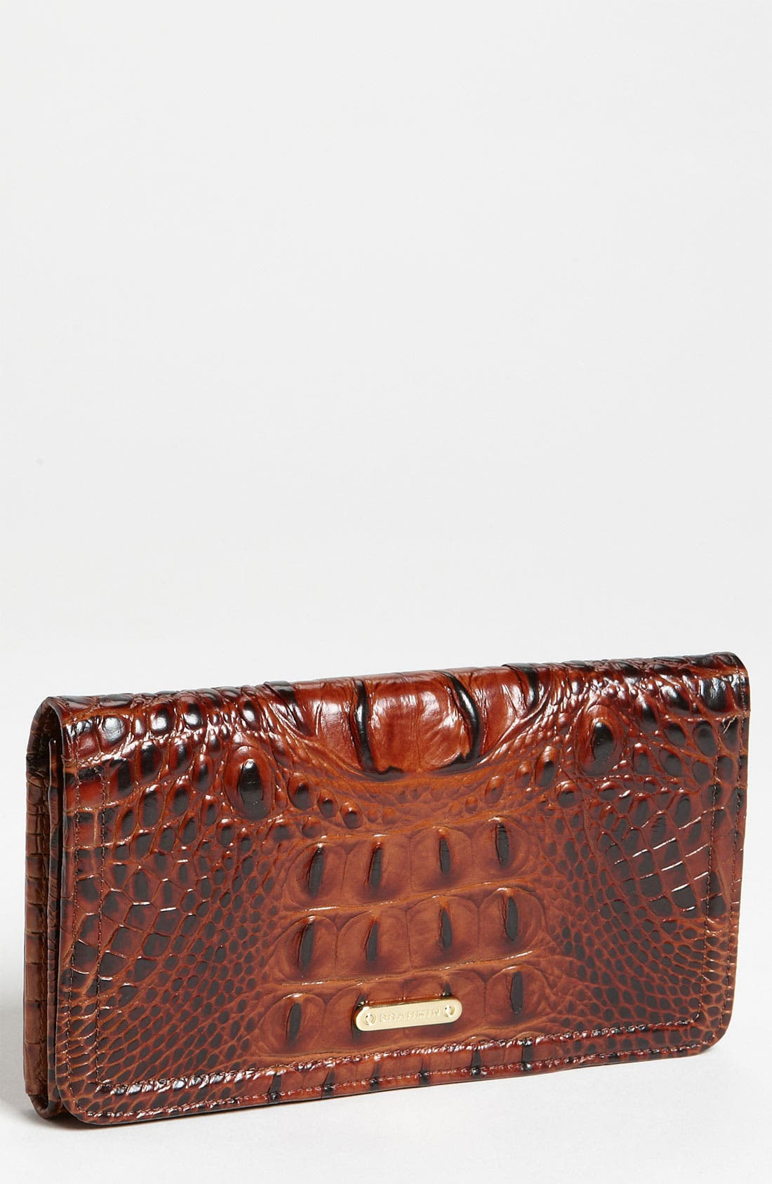 Alternate Image 1 Selected - Brahmin Croc Embossed Leather Continental Wallet
