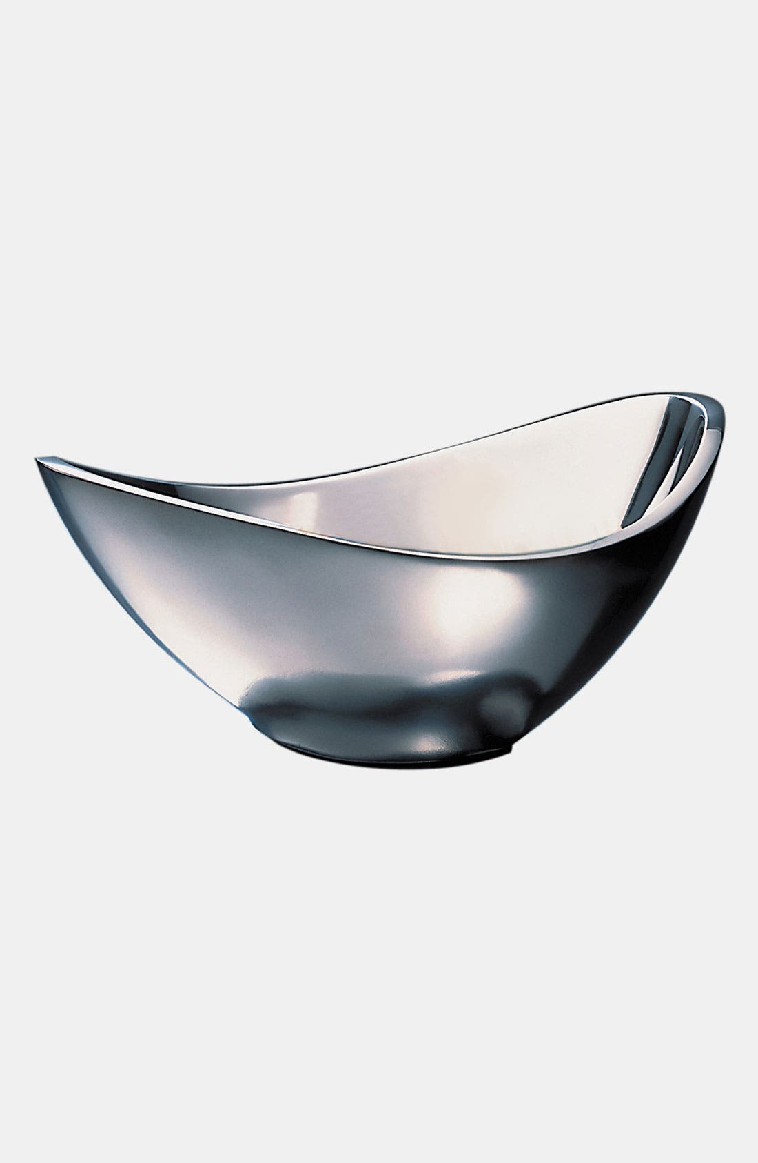 Butterfly Metal Bowl,                         Main,                         color, Silver