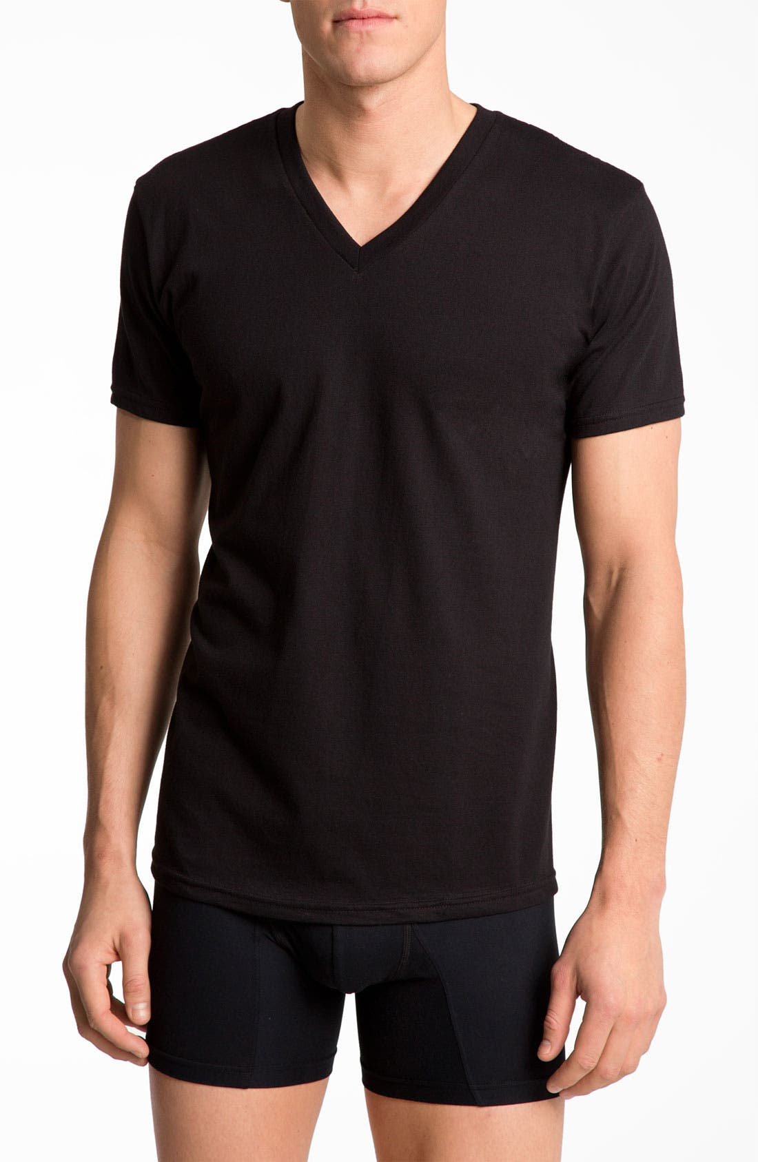 Alternate Image 1 Selected - Calvin Klein Basic V-Neck T-Shirt (2-Pack) (Tall)