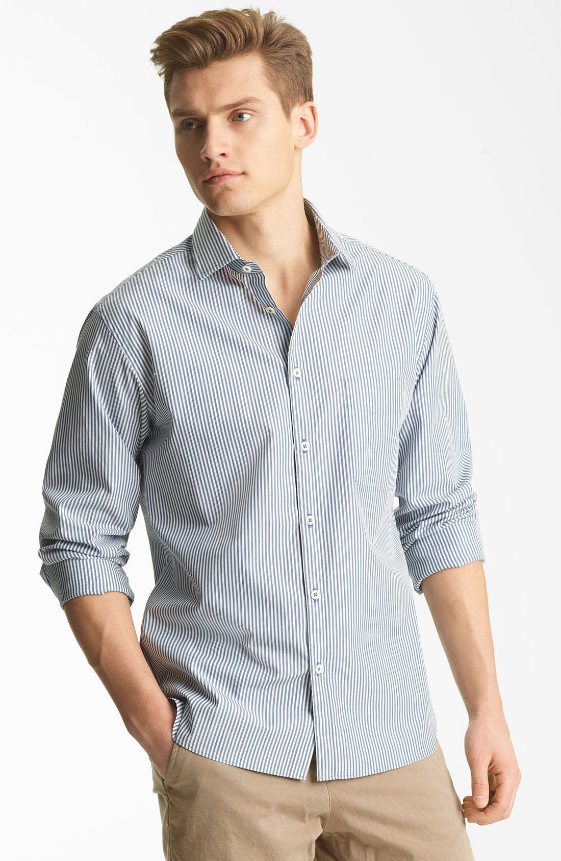 Alternate Image 1 Selected - Billy Reid 'John T' Stripe Woven Shirt