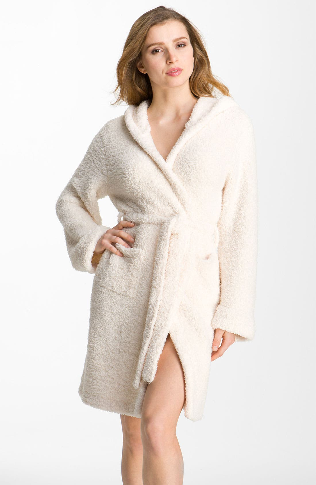 Alternate Image 1 Selected - Barefoot Dreams® CozyChic® Short Hooded Robe