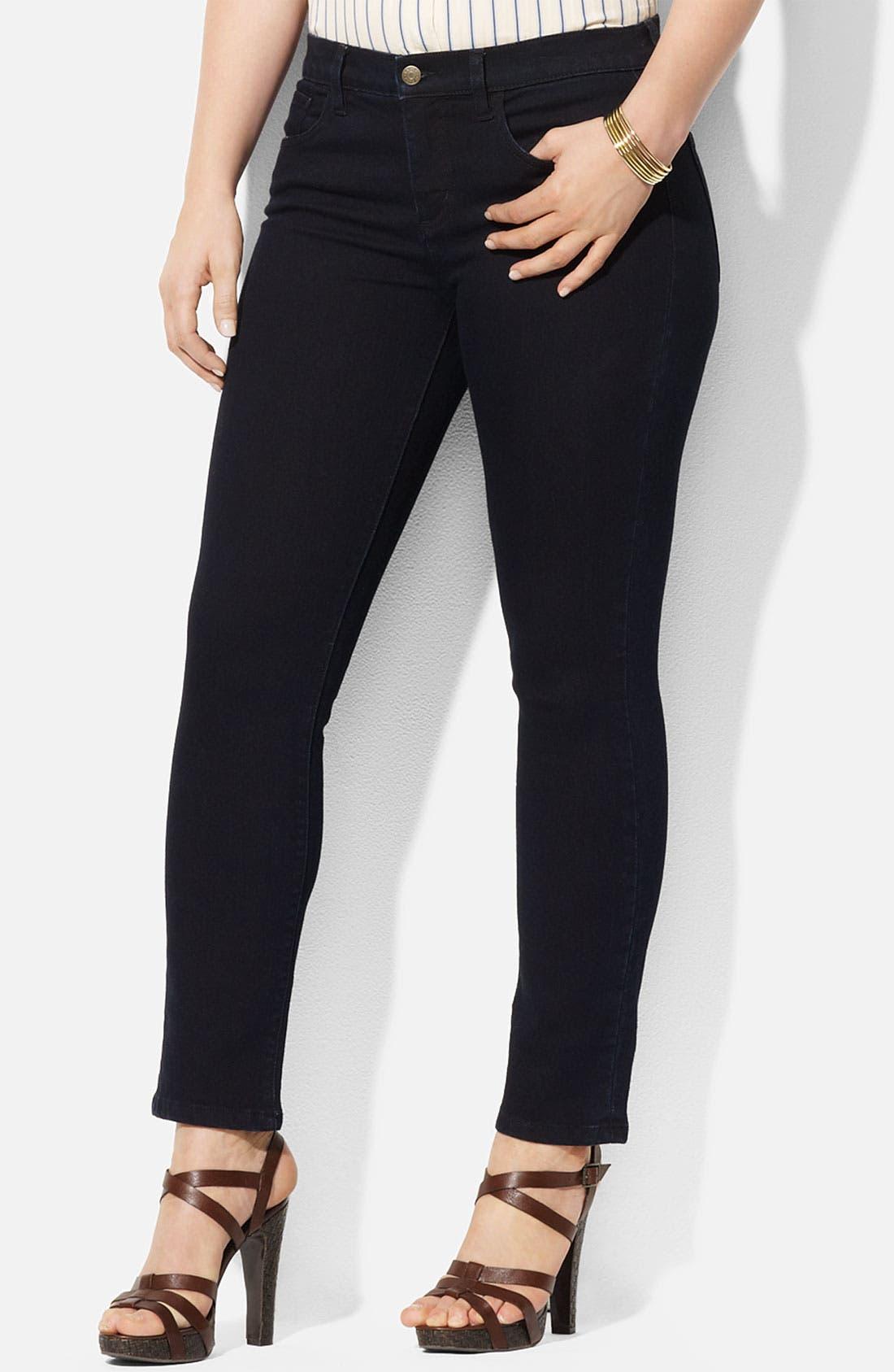 Alternate Image 1 Selected - Lauren Ralph Lauren Straight Leg Ankle Pants (Plus)