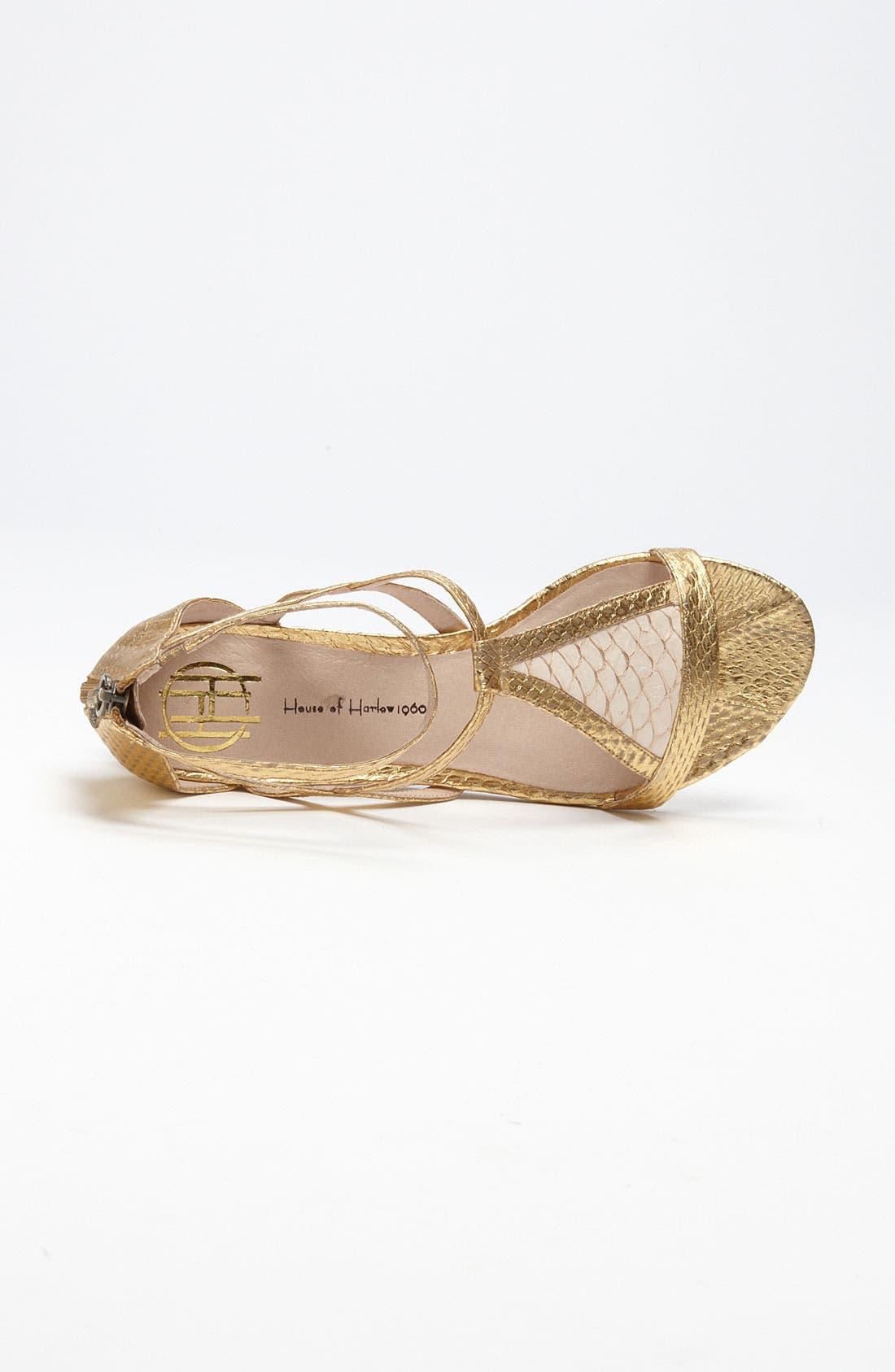 'Casmine' Sandal,                             Alternate thumbnail 3, color,                             Antique Gold