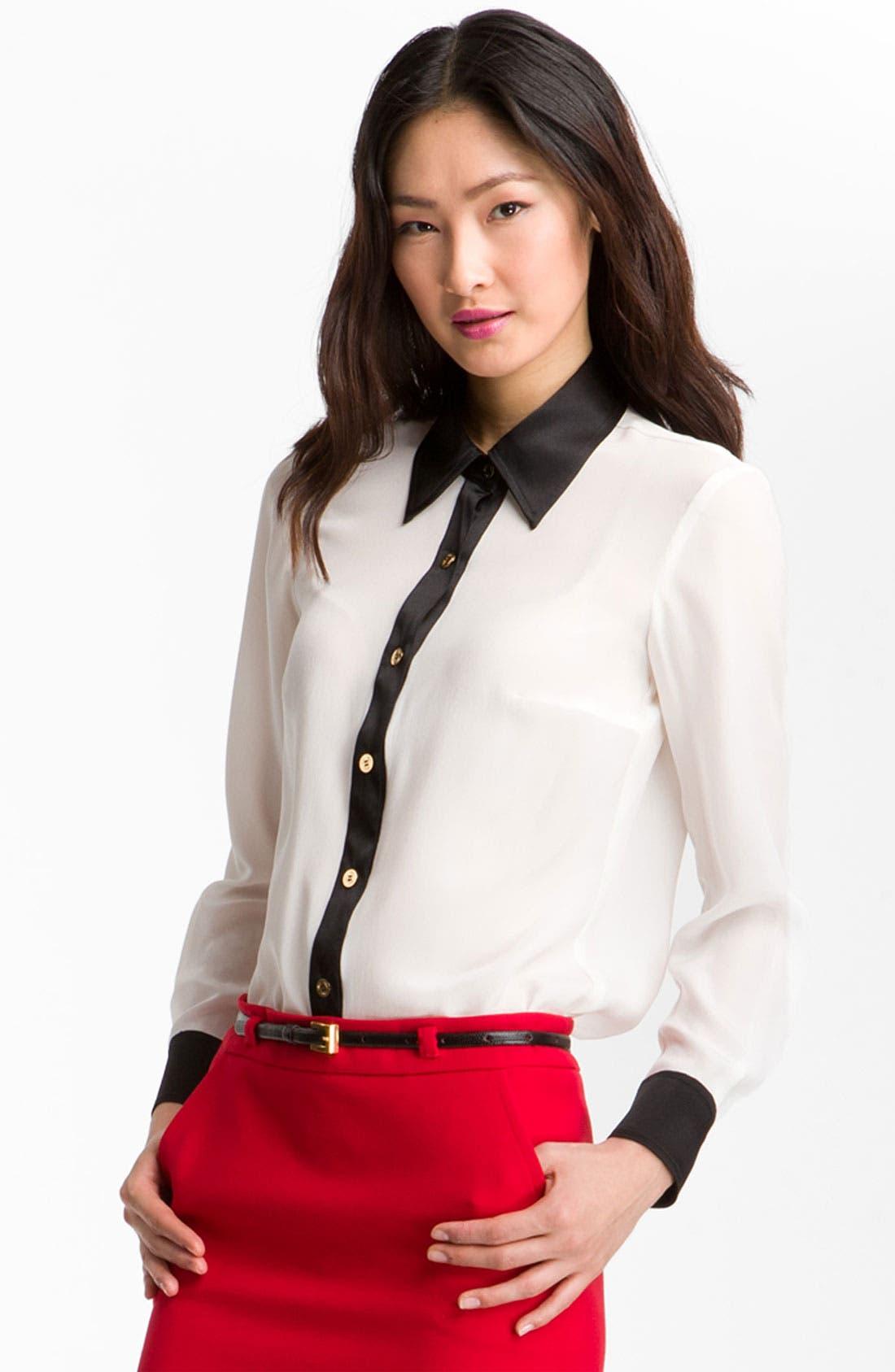Alternate Image 1 Selected - Trina Turk 'Carrlyne 2' Contrast Trim Shirt