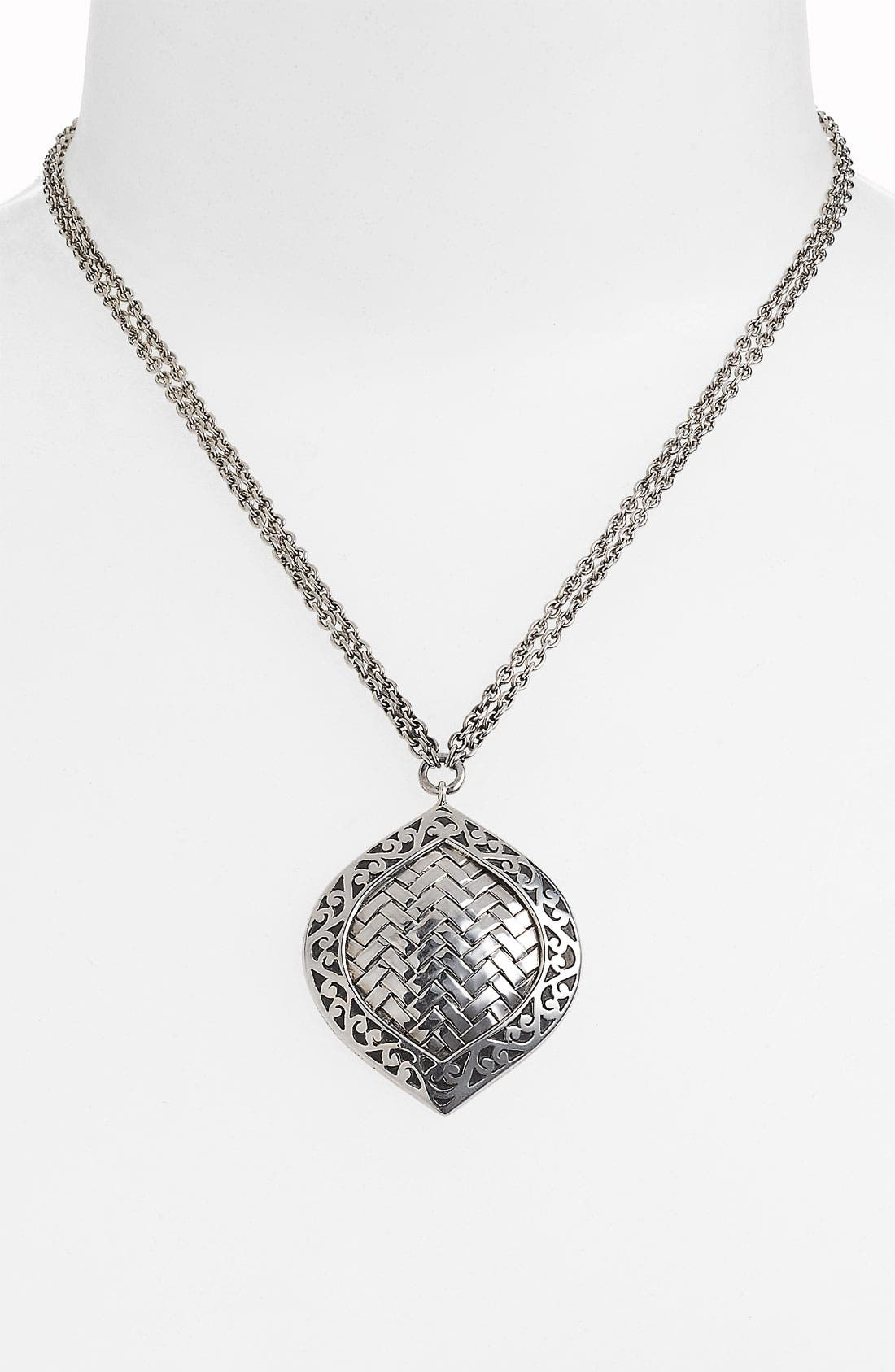 Alternate Image 1 Selected - Lois Hill 'Basket Weave' Bulb Pendant Necklace