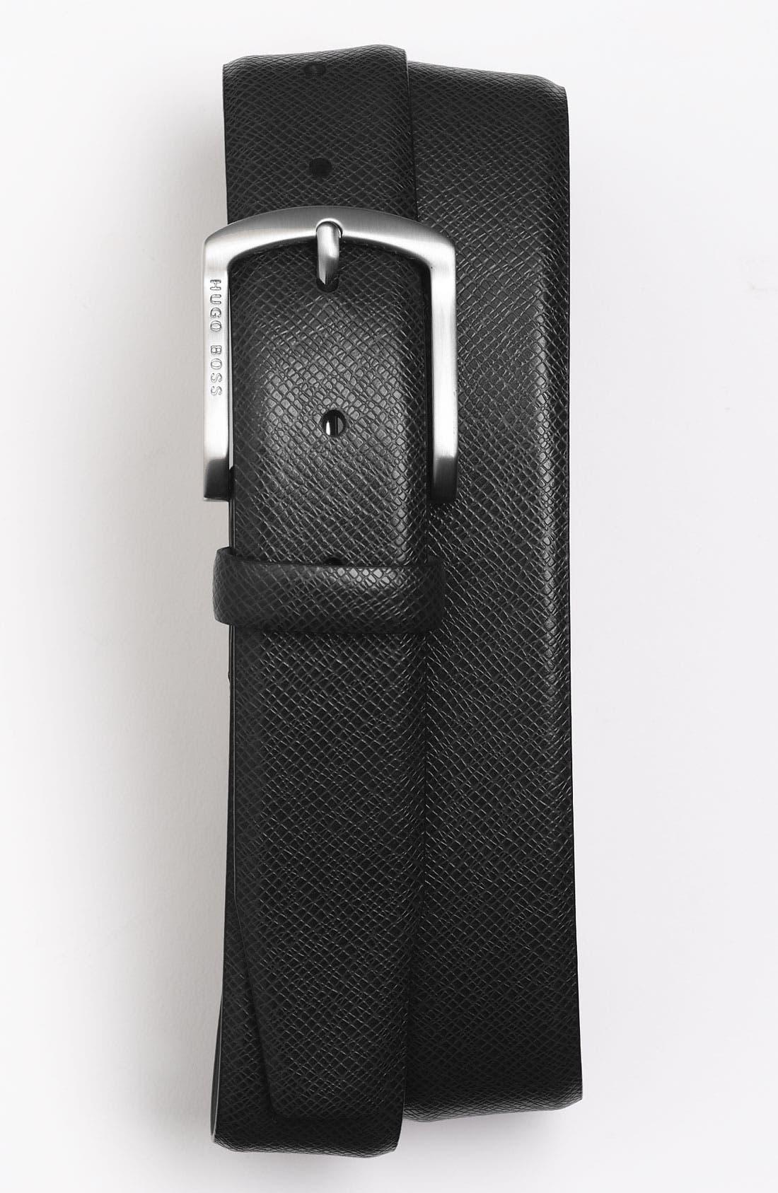 Alternate Image 1 Selected - BOSS HUGO BOSS 'Pedri' Leather Belt