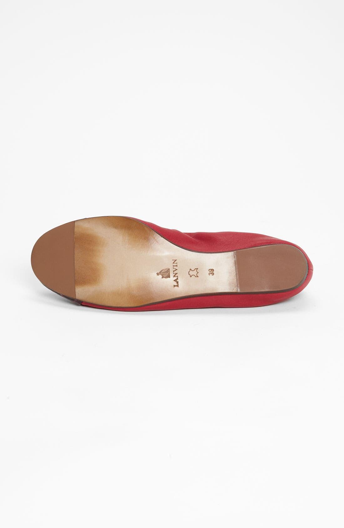 Alternate Image 4  - Lanvin Cap Toe Ballerina Flat