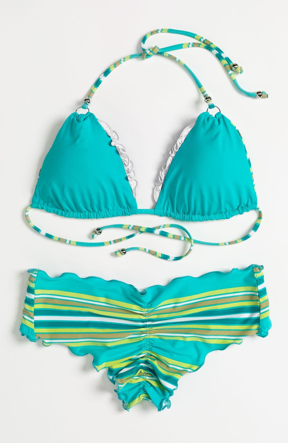 Alternate Image 6  - Vitamin A Silver 'Rio' Reversible Halter Bikini Top