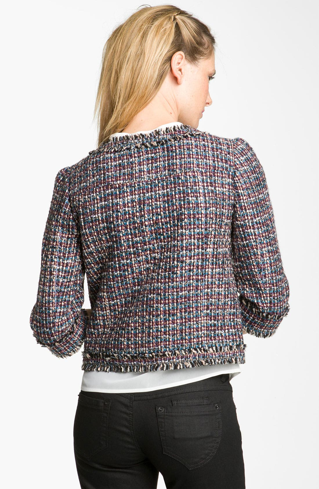 Alternate Image 2  - Frenchi® 'Vanity' Tweed Jacket (Juniors)