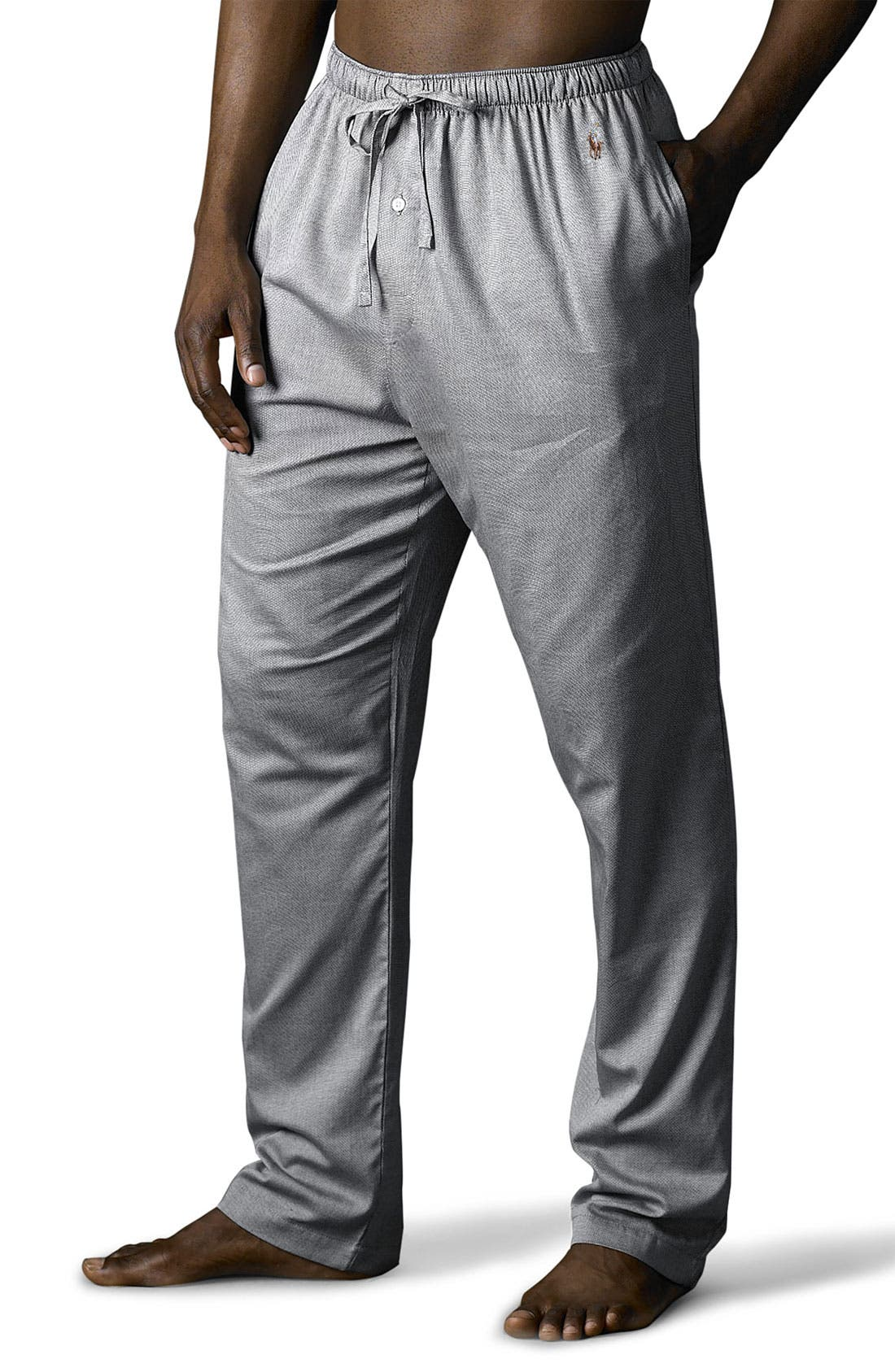 Pajama Pants,                             Main thumbnail 1, color,                             Black Royal Oxford