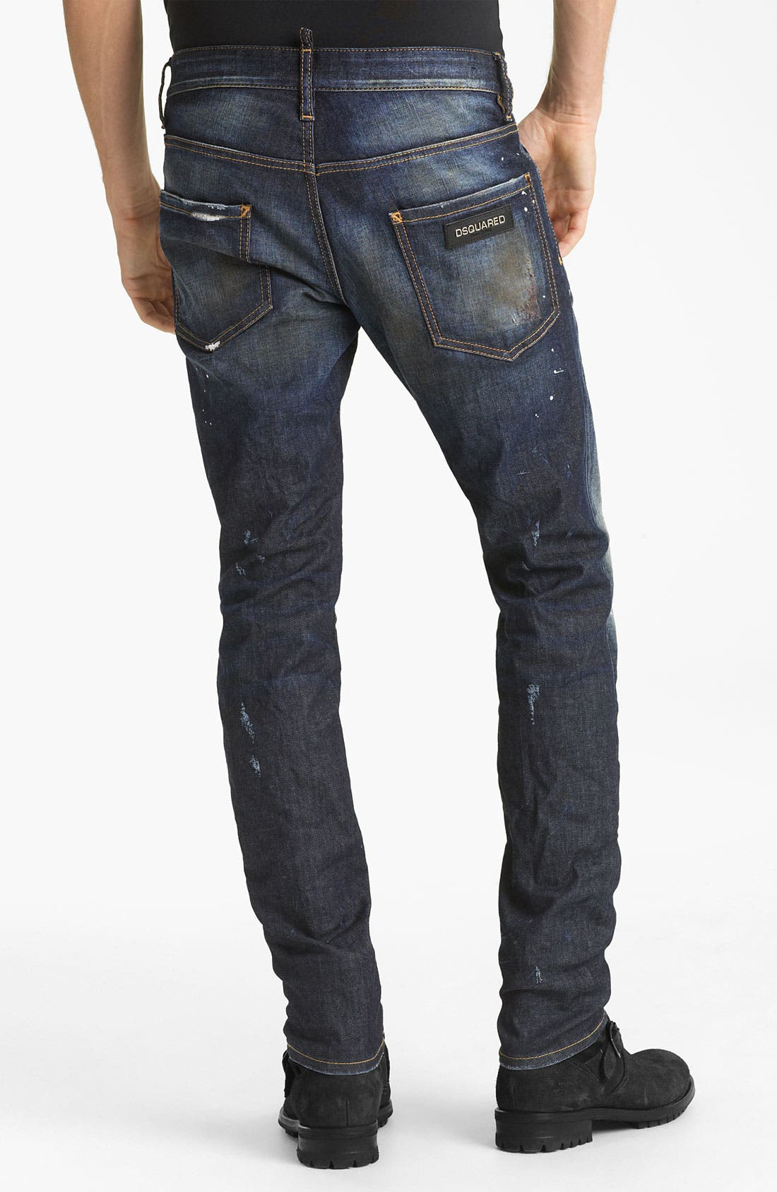 Alternate Image 1 Selected - Dsquared2 'Cool Guy' Slim Fit Jeans (Blue Wash)