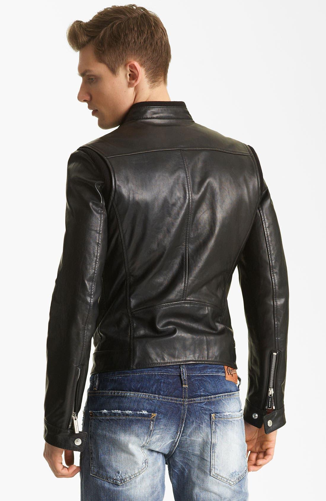 Alternate Image 2  - Dsquared2 'Chic' Leather Moto Jacket