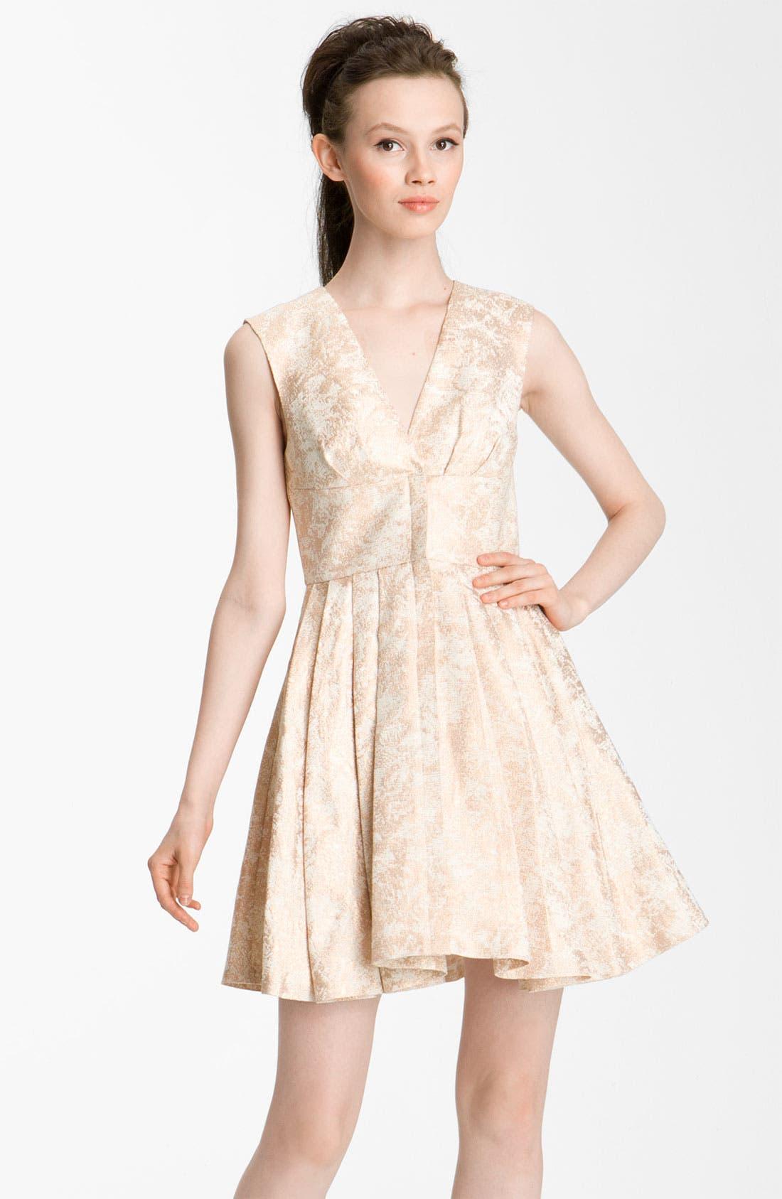 Main Image - Rachel Zoe 'Daria' Metallic Brocade Dress