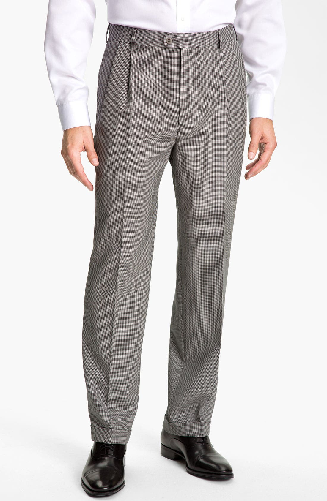 Main Image - Zanella 'Bennett' Double Reverse Pleat Trousers