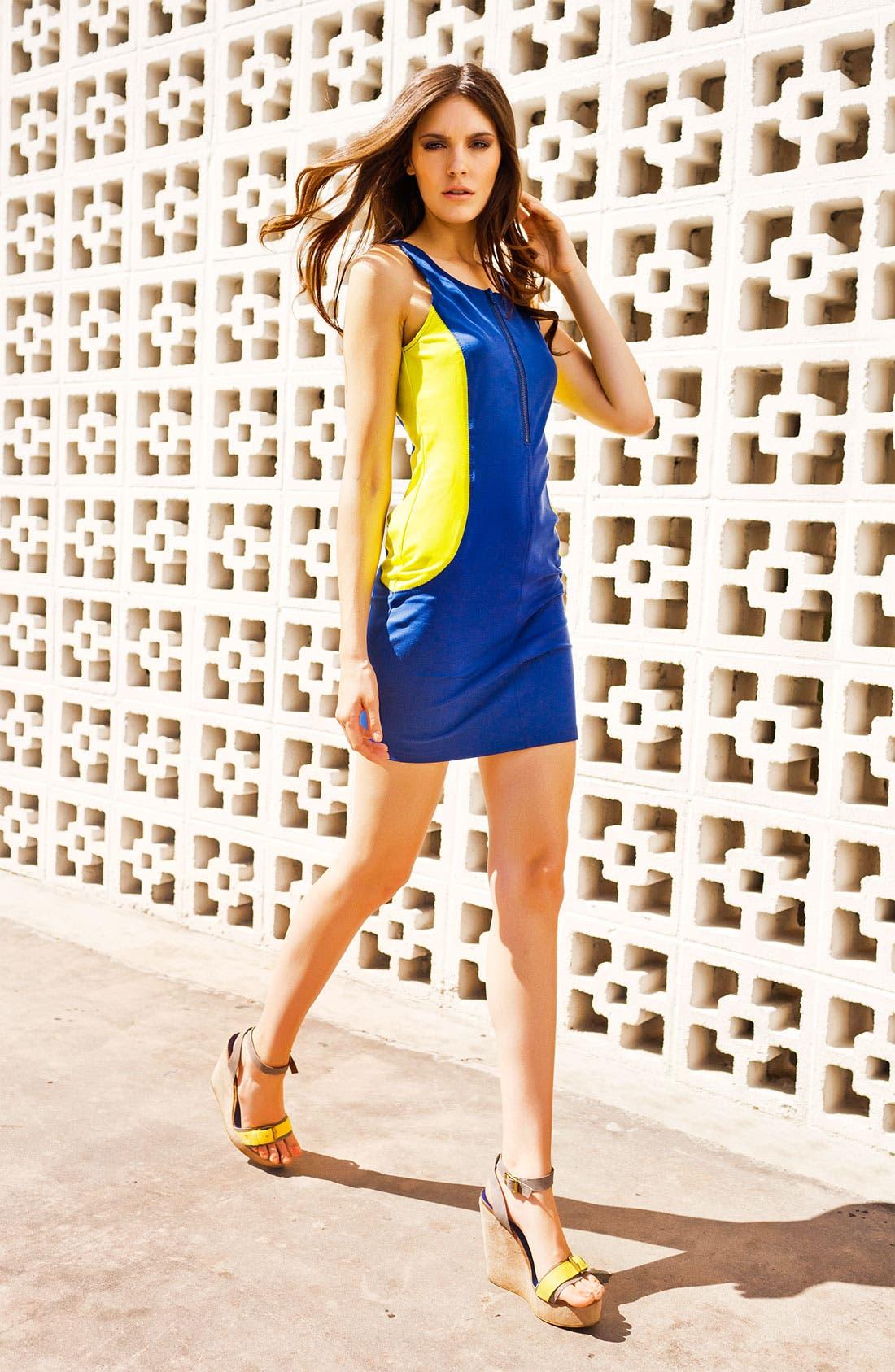 Alternate Image 4  - Trouvé Colorblock Scuba Dress