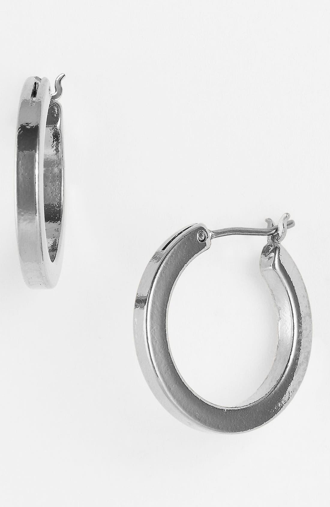 Alternate Image 1 Selected - Anne Klein Flat Edge Hoop Earrings