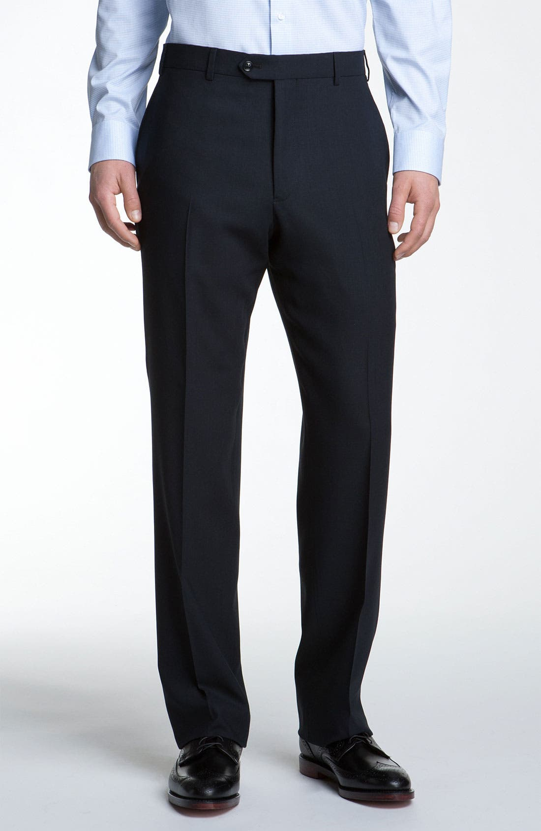 Alternate Image 4  - Armani Collezioni Trim Fit Wool Suit