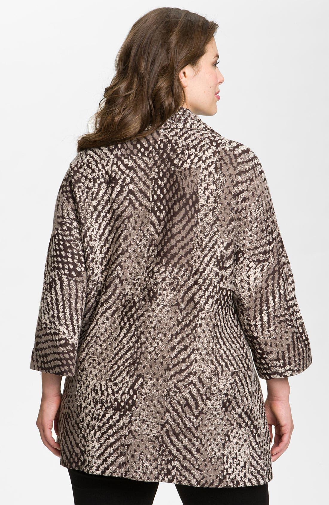 Alternate Image 2  - Nic + Zoe 'Textured Dots' Knit Jacket (Plus)