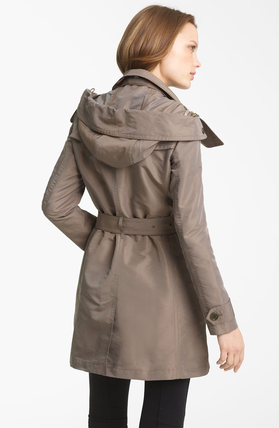 Alternate Image 2  - Burberry Brit Double Breasted Trench Coat