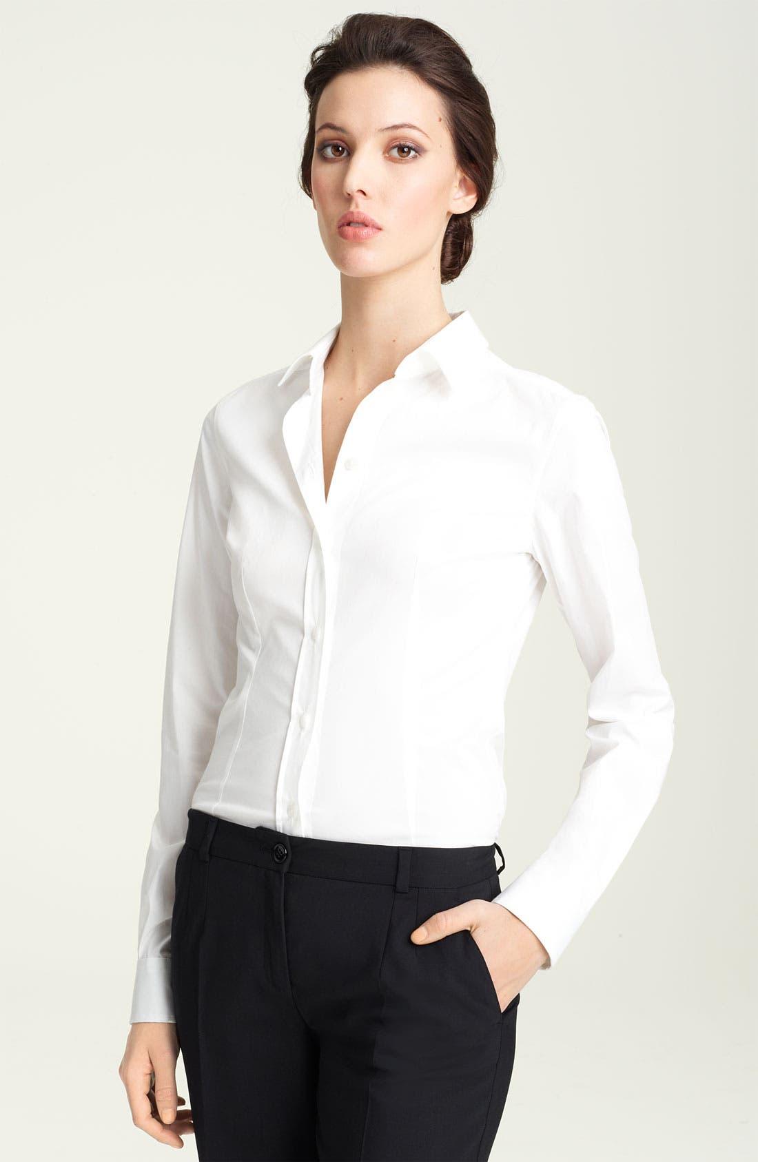 Main Image - Dolce&Gabbana Stretch Cotton Shirt