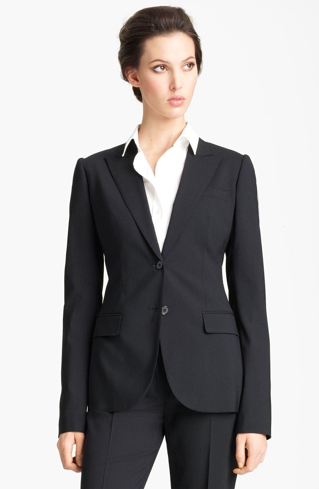 Main Image - Dolce&Gabbana Stretch Wool Blazer