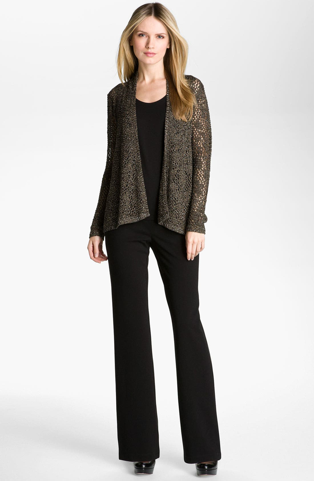 Alternate Image 3  - Eileen Fisher 'Sparkle' Knit Cardigan