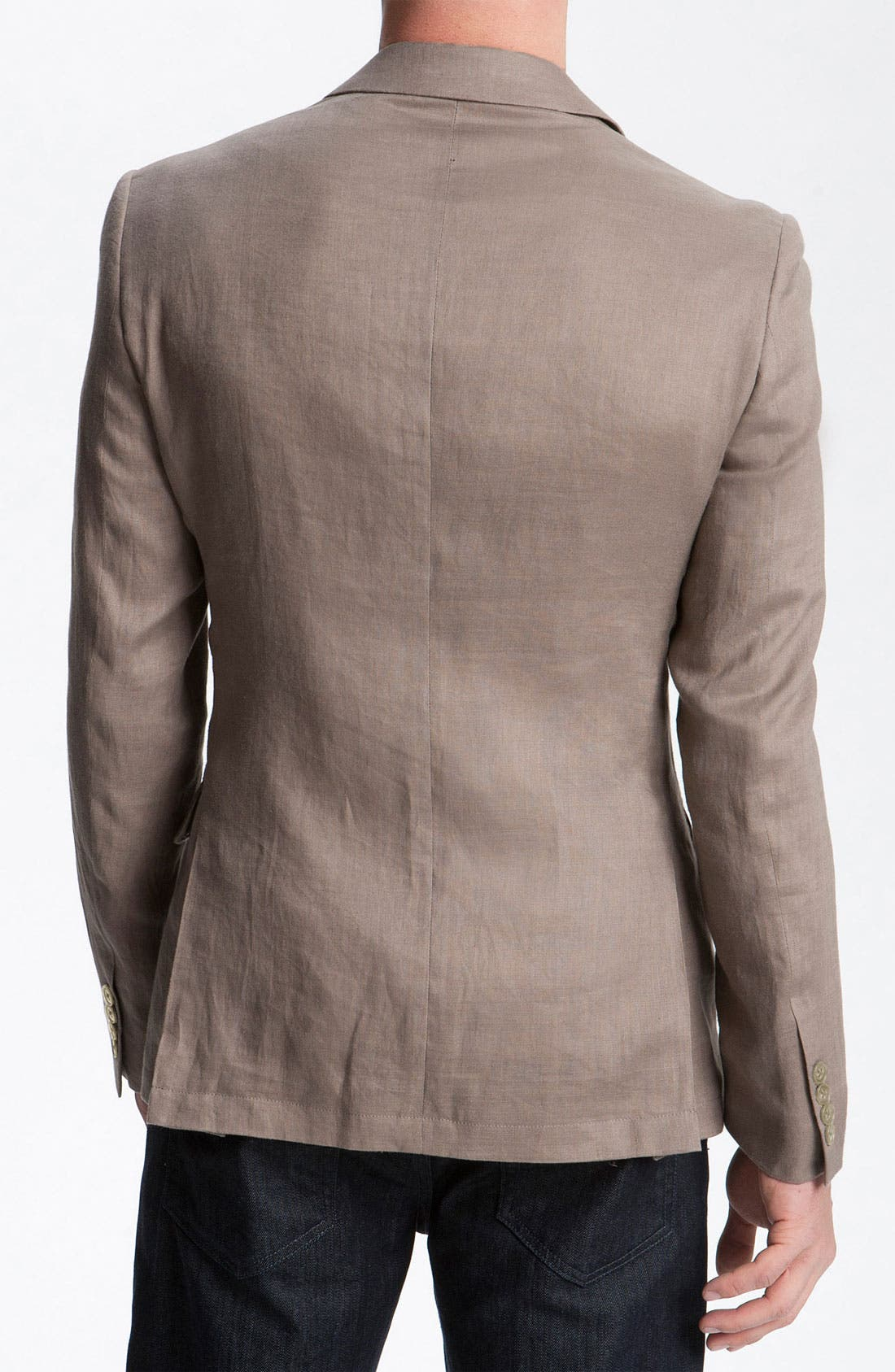 Alternate Image 2  - John Varvatos Star USA Khaki Linen Blazer