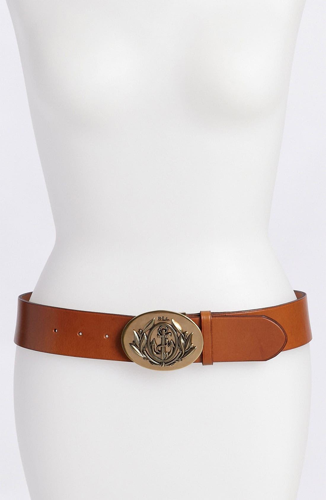 Alternate Image 1 Selected - Lauren Ralph Lauren Vachetta Belt