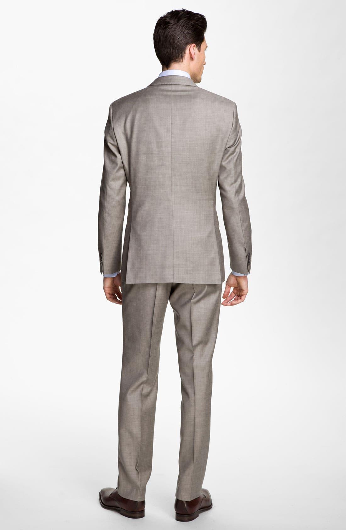Alternate Image 3  - BOSS Black 'James/Sharp' Trim Fit Wool Suit