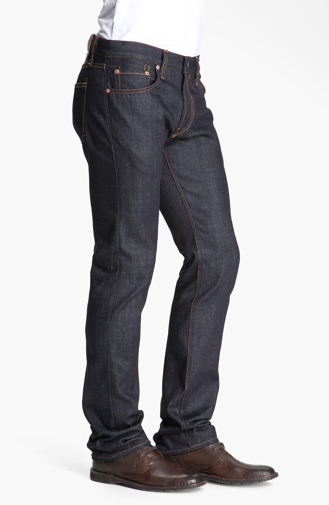 Alternate Image 3  - J Brand Kane Slim Straight Leg Jeans (Raw)