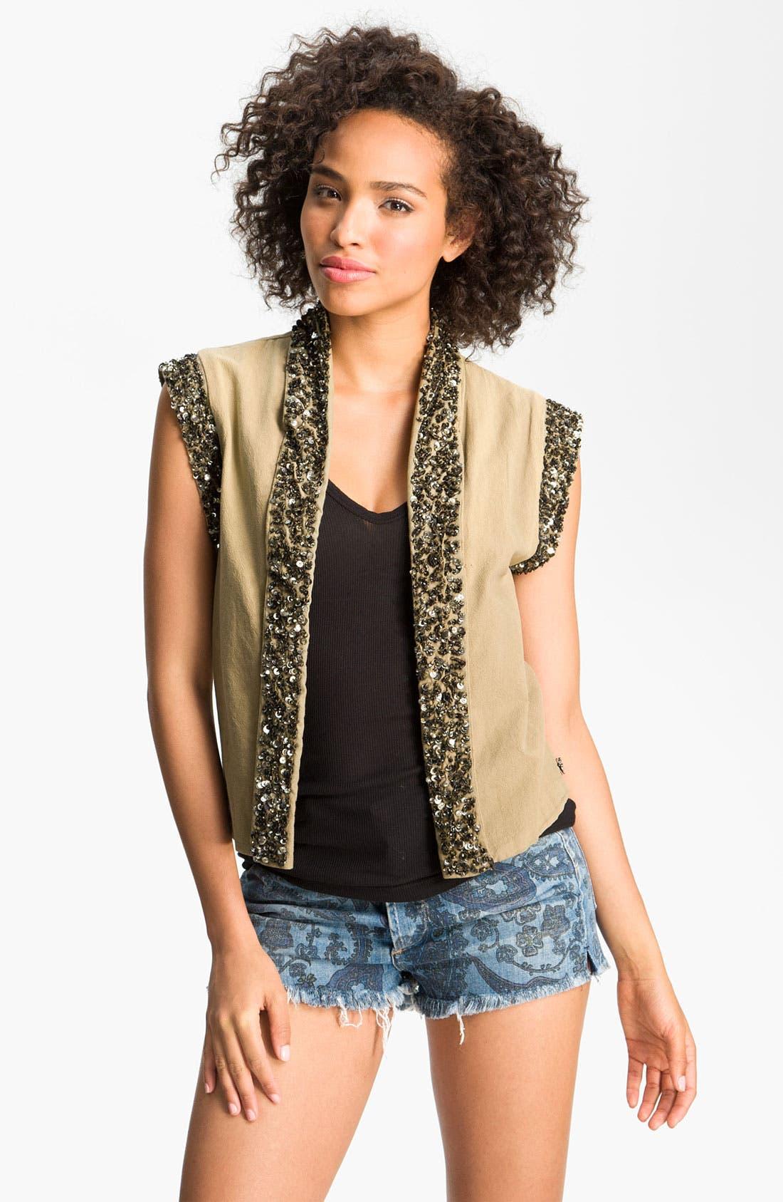 Alternate Image 1 Selected - Maison Scotch Sequin Vest