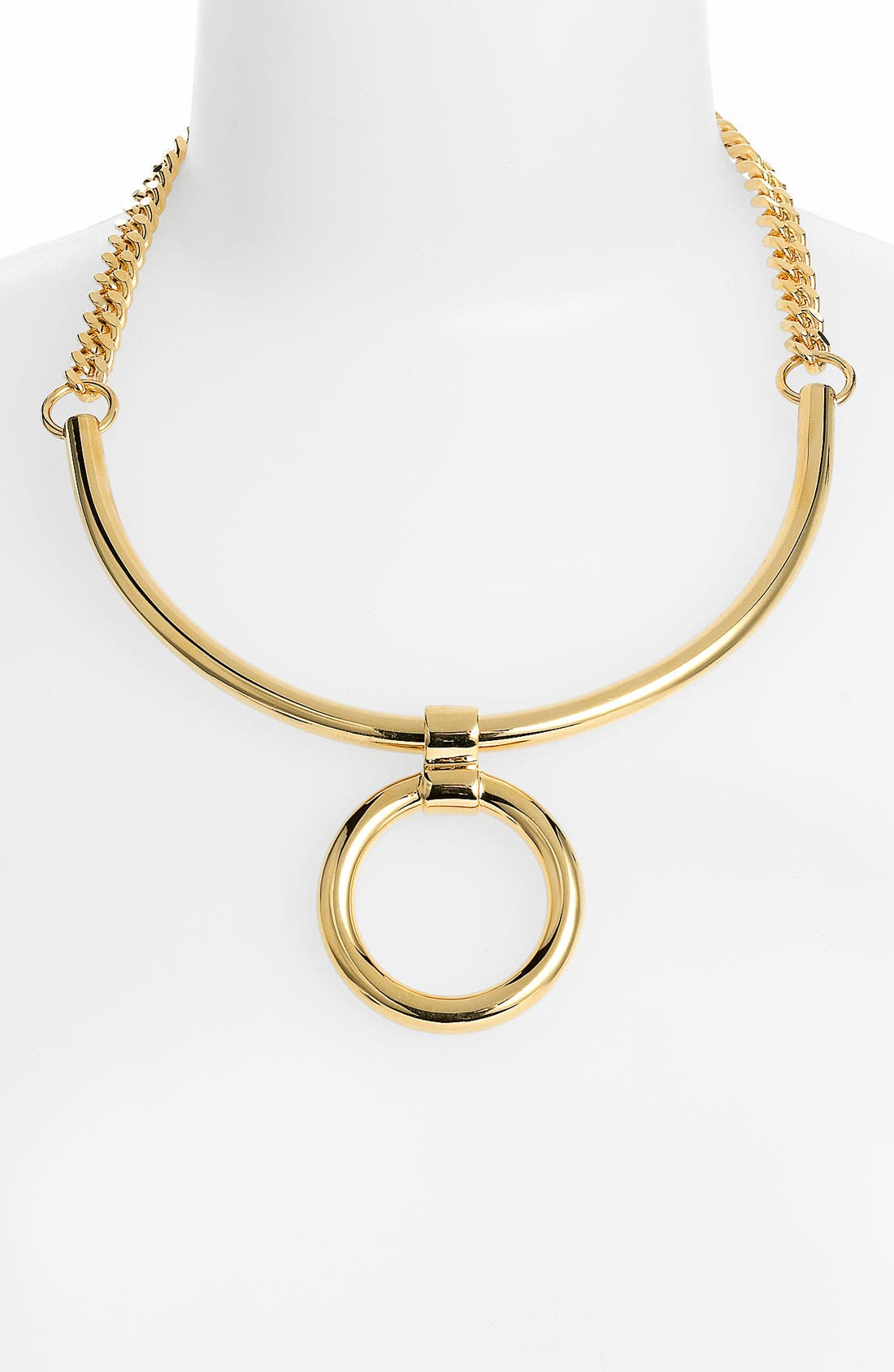 Alternate Image 1 Selected - Tory Burch Circle Pendant Necklace