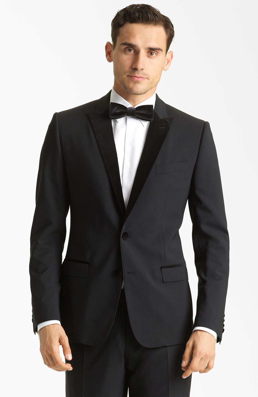 Alternate Image 1 Selected - Dolce&Gabbana Velvet Trimmed Designer Tuxedo
