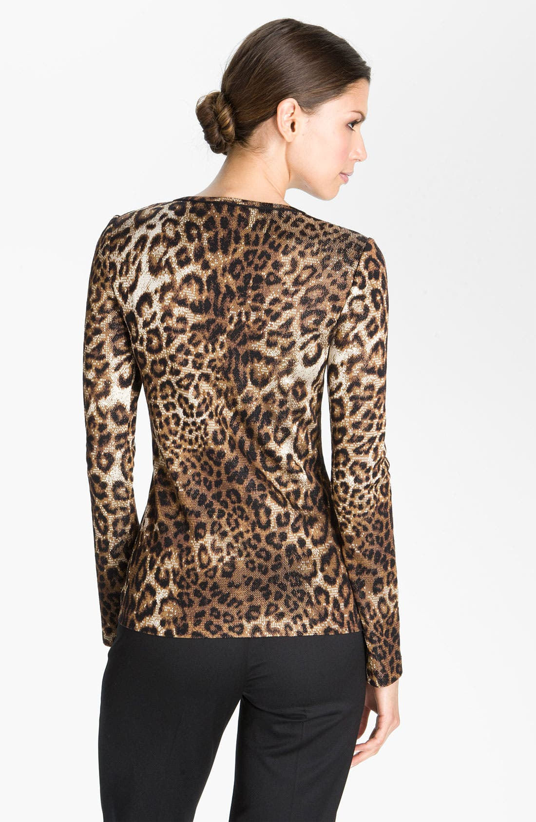 Alternate Image 2  - St. John Collection Cheetah Jacquard Sweater
