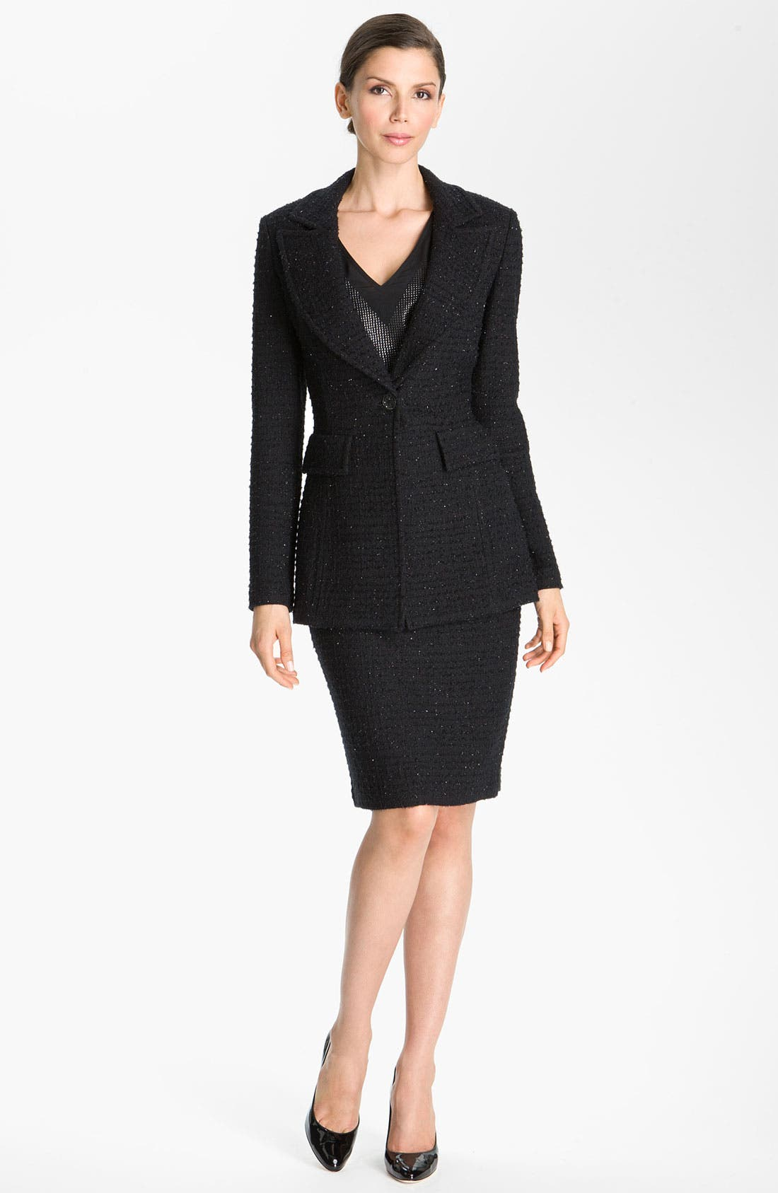 Main Image - St. John Collection Textured Shimmer Knit Jacket