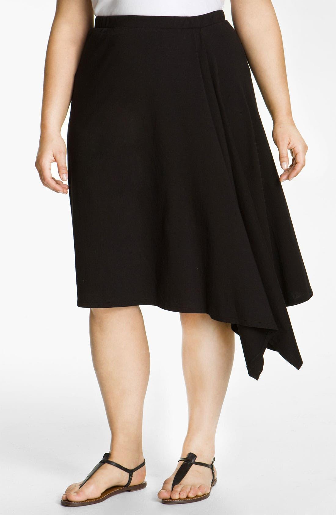 Alternate Image 1 Selected - DKNYC Drape Front Skirt (Plus)
