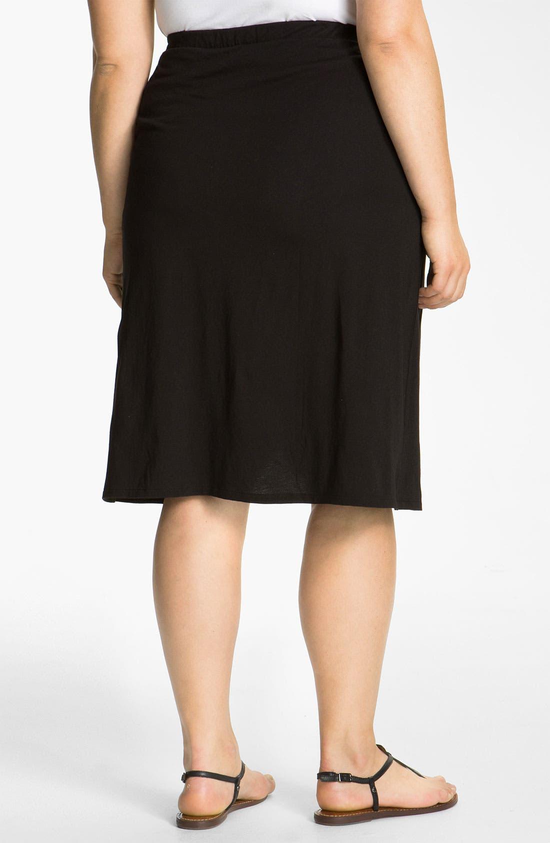 Alternate Image 2  - DKNYC Drape Front Skirt (Plus)