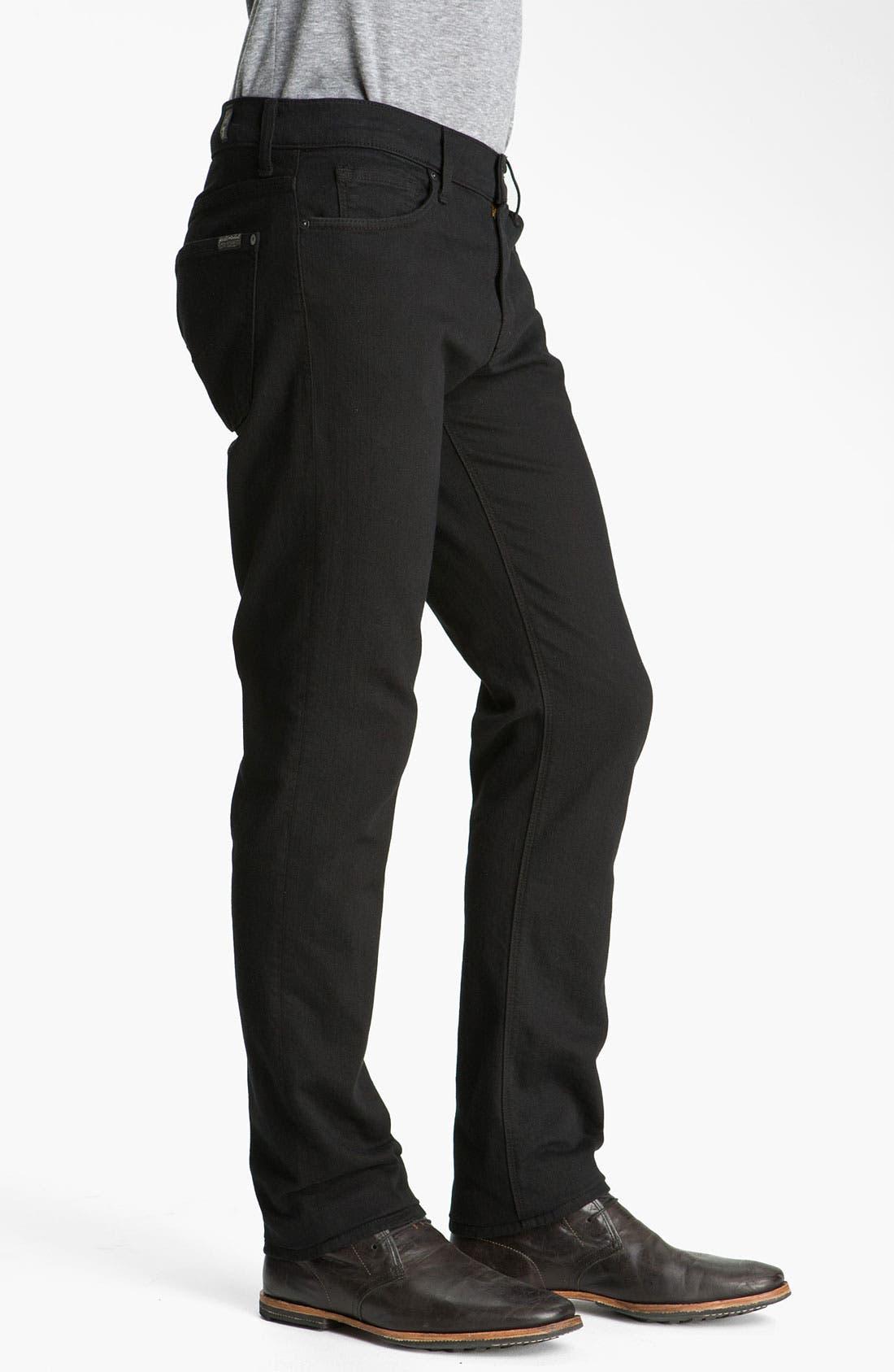 Alternate Image 3  - 7 For All Mankind® 'Slimmy' Slim Fit Jeans (Black Out)