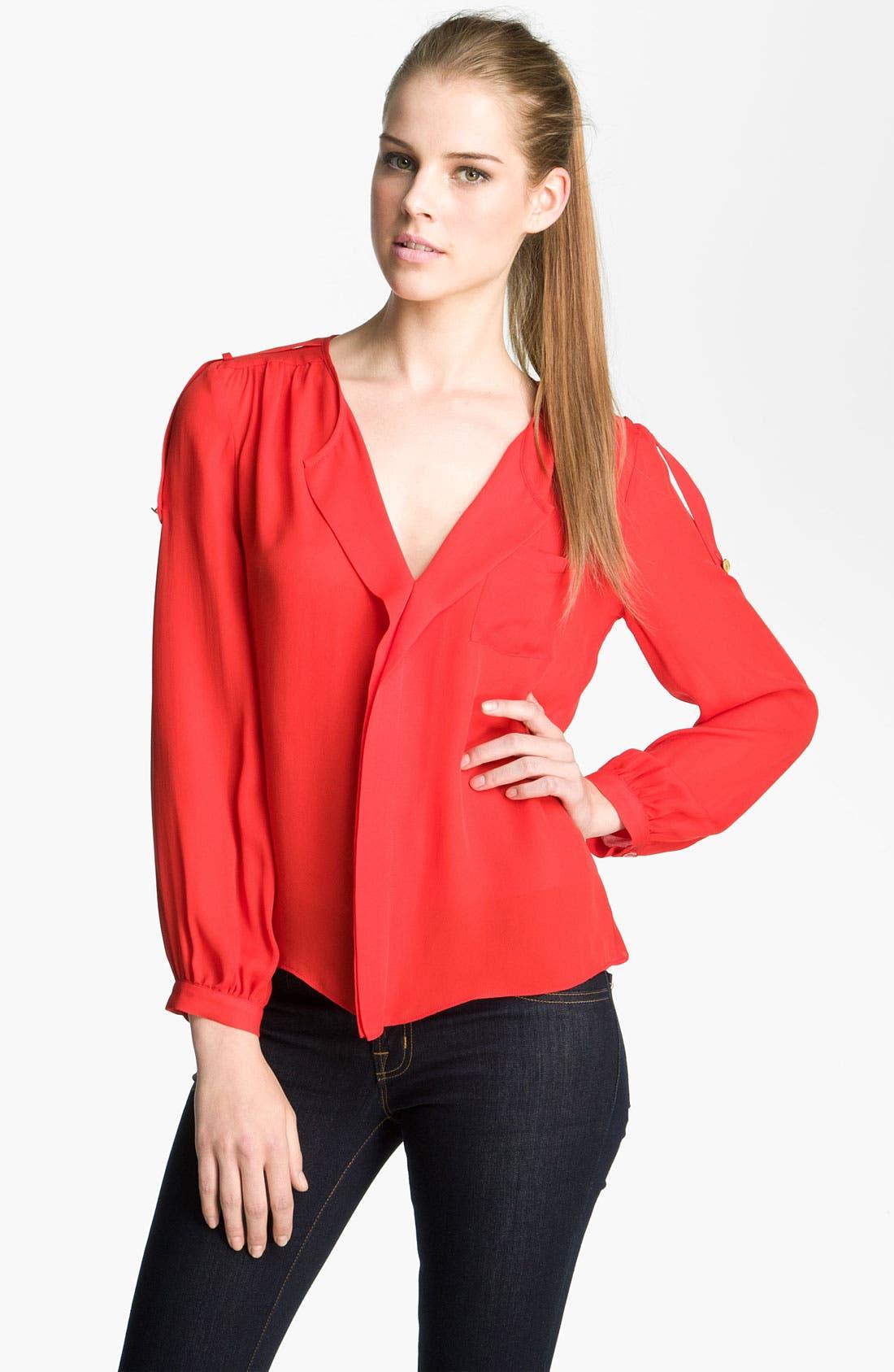 Alternate Image 1 Selected - Parker V-Neck Silk Blouse