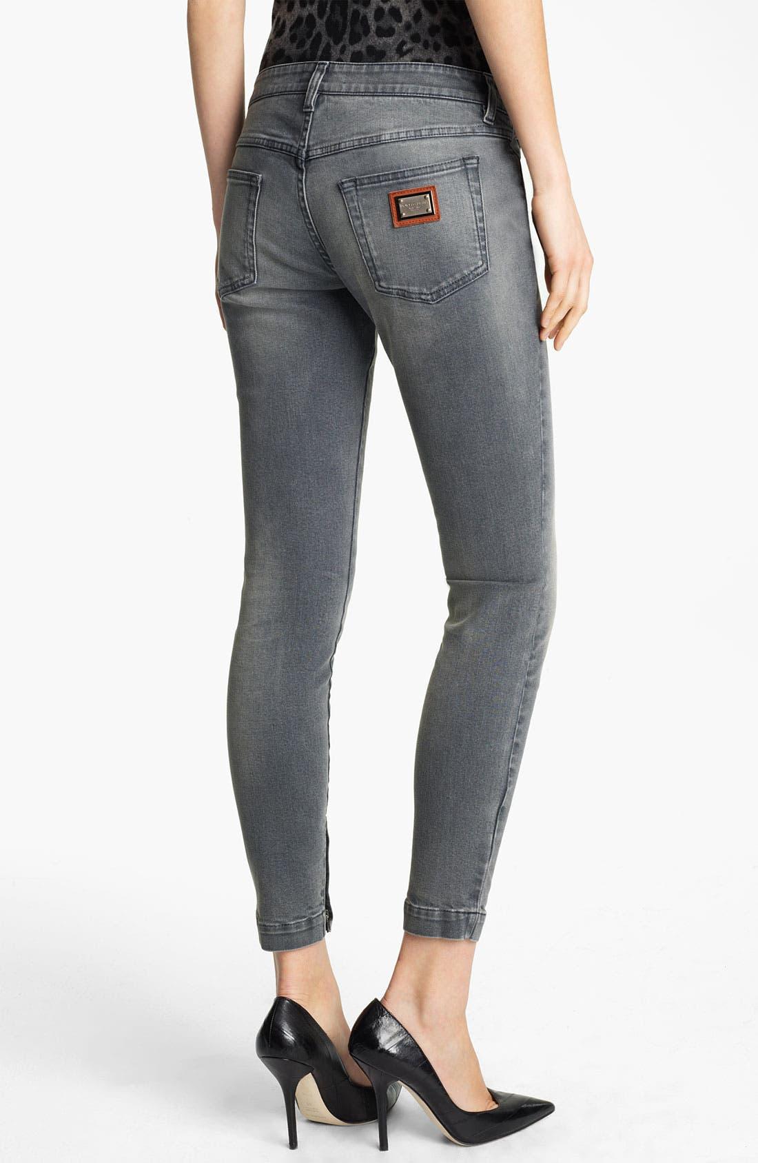 Alternate Image 2  - Dolce&Gabbana Skinny Ankle Zip Jeans