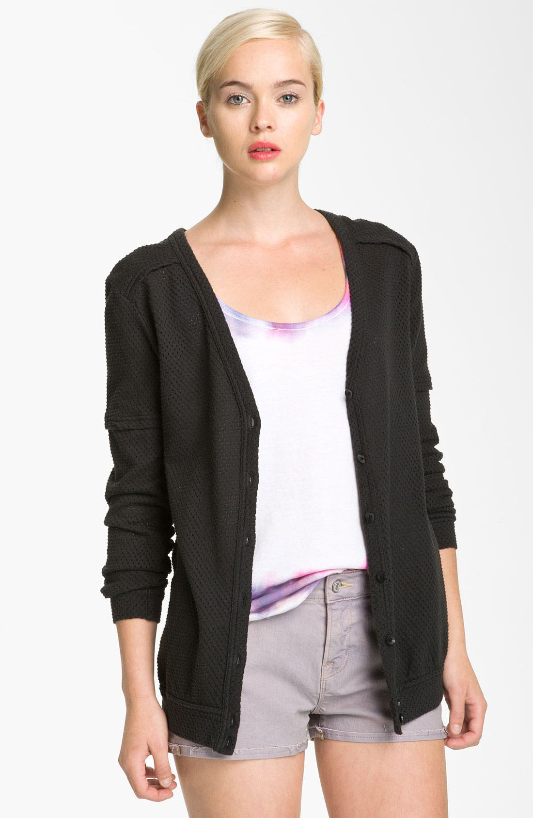 Main Image - MARC BY MARC JACOBS Jersey Mesh Cardigan