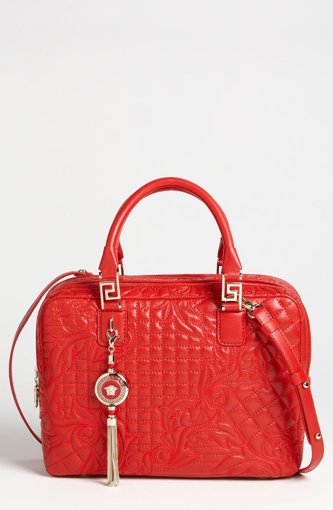 Alternate Image 1 Selected - Versace 'Linea' Leather Satchel