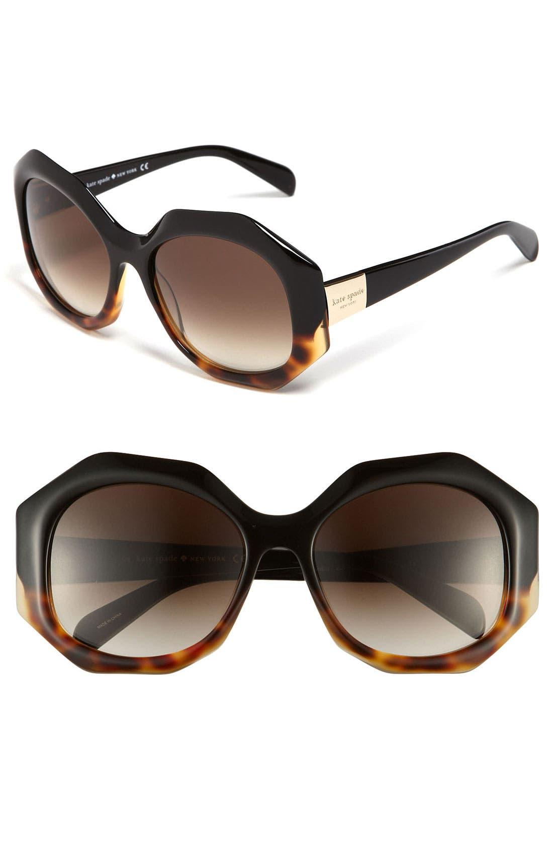 Alternate Image 1 Selected - kate spade new york Oversized retro sunglasses