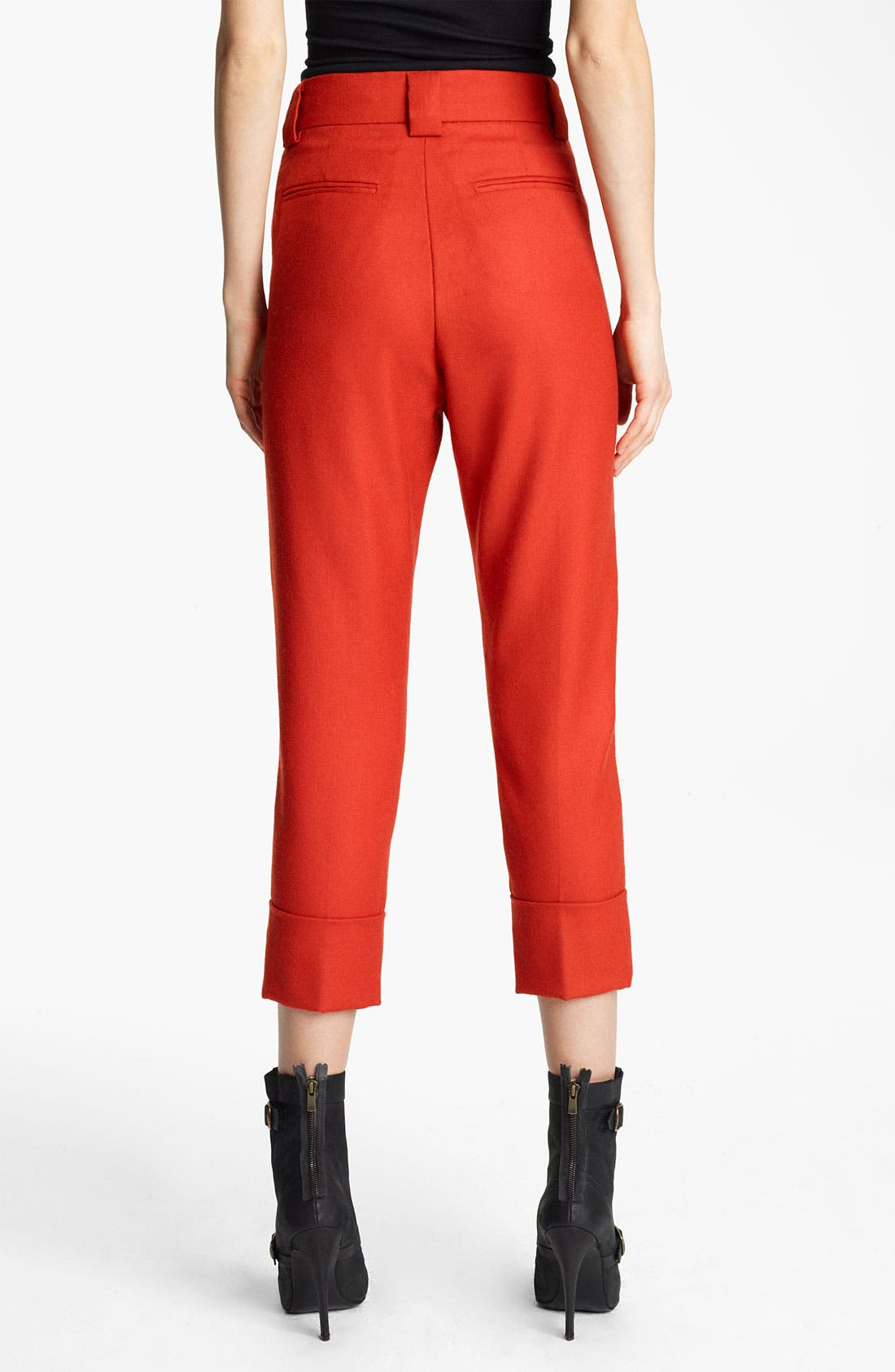 Alternate Image 2  - Band of Outsiders Crop Straight Leg Flannel Pants