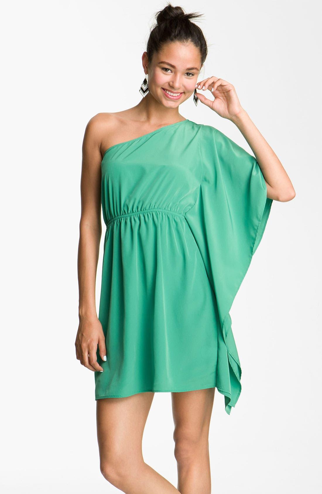 Alternate Image 1 Selected - Soprano One Shoulder Dress (Juniors)