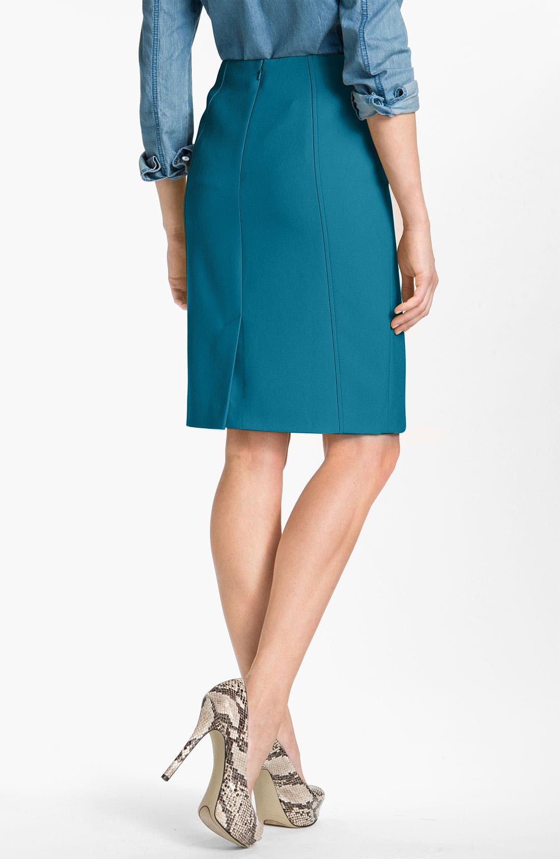 Alternate Image 2  - Halogen® Seamed Pencil Skirt