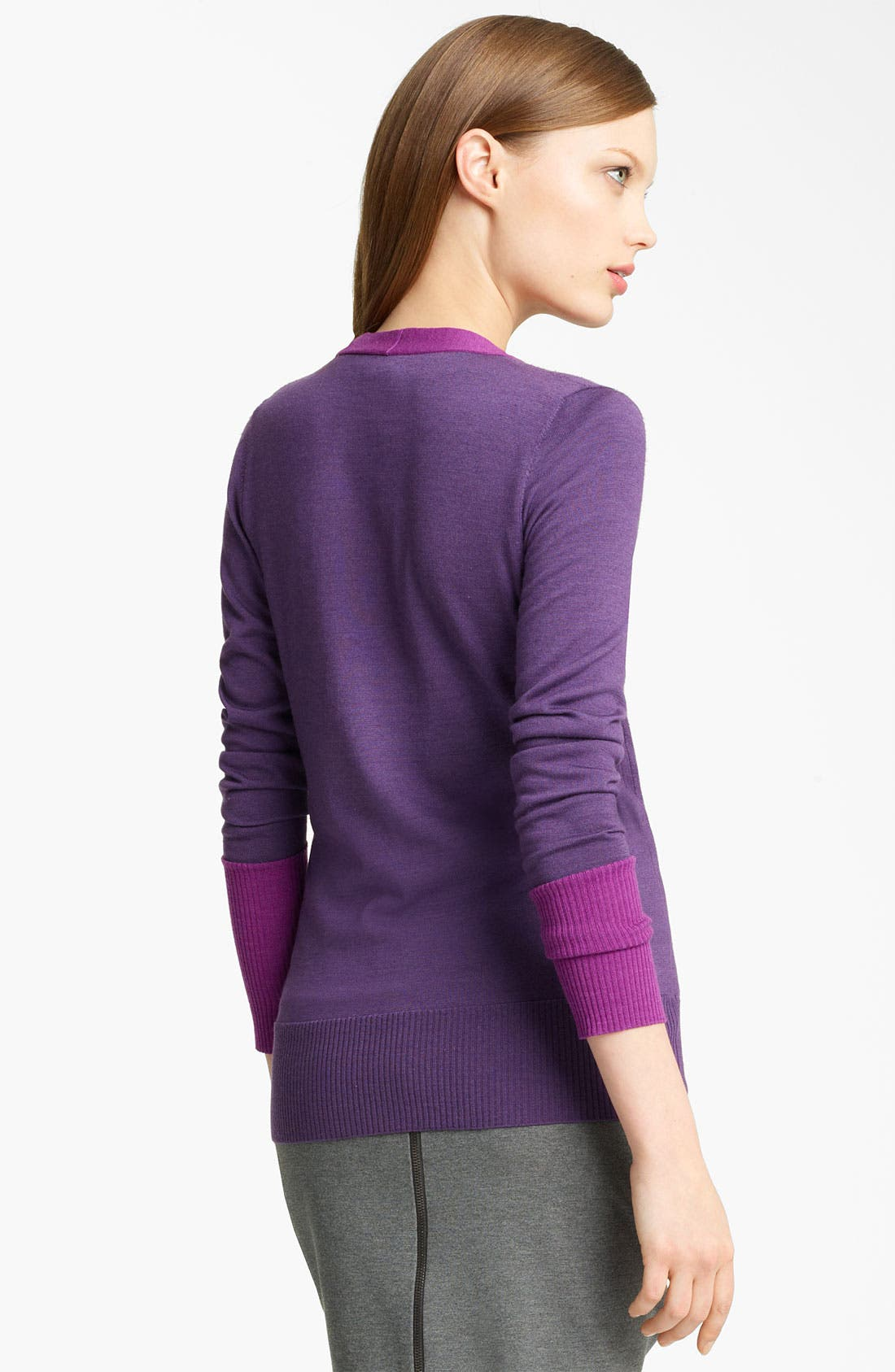 Alternate Image 2  - Lida Baday Contrast Trim Cardigan