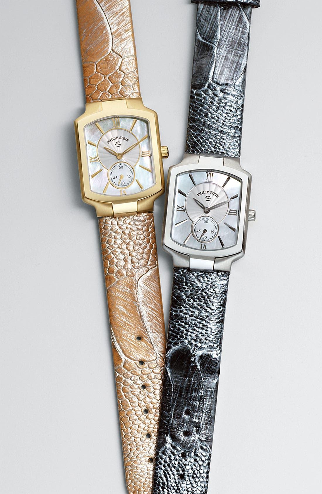 Alternate Image 2  - Philip Stein® 18mm Ostrich Leather Strap